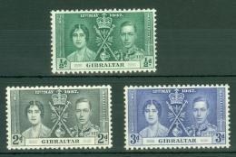 Gibraltar: 1937   Coronation     MH - Gibilterra