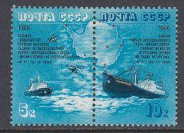 Russia 1986 Antarctica / Icebreakers 2v Se-tenant ** Mnh (40785F) - Poolshepen & Ijsbrekers
