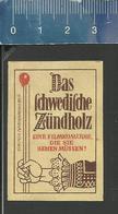 DAS SCHWEDISCHE ZÜNDHOLZ EINE FILMKOMODIE DIE SIE SEHEN MÜSSEN  Old Matchbox Label Former DDR - Boites D'allumettes - Etiquettes