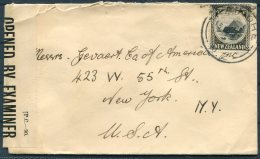 1943 New Zealand Censor Cover - New York, USA. - Covers & Documents