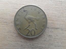 Tanzanie  20  Senti  1966  Km 2 - Tanzanie