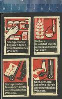 WARENKUNDLICHES WISSEN Old Matchbox Labels Former DDR - Boites D'allumettes - Etiquettes