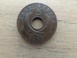 East  Africa  5  Cents  1925  Km 18 - Colonie Britannique