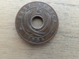 East  Africa  5  Cents  1936 Kn  Km 23 - British Colony