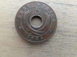 East  Africa  5  Cents  1936 Kn  Km 23 - Colonie Britannique