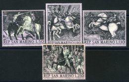 SAINT-MARIN  ( POSTE ) : Y&T N°  721/724  TIMBRES  NEUFS  SANS  TRACE  DE  CHARNIERE , A  VOIR . - Saint-Marin