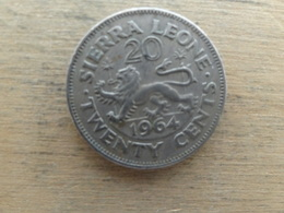 Sierra Leone  20  Cents  1964  Km 20 - Sierra Leone