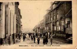 59-BAILLEUL...RUE DES CHOUX...CERCLE ST-JOSEPH...CPA ANIMEE - Francia