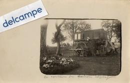 MILITARIA - CARTE PHOTO RARE -  VOITURE  PHOTOGRAPHIQUE N° ? - VOITURE Du BALLON CAPTIF. - War, Military