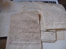 LOT 7 DOCUMENTS ET LETTRES FAMILLE BEAUMONT DE FEILLENS 1749-80 SYNDIC NOBLESSE BRESSE FONDS INGENIEUR DEVILLE LYON - Autógrafos