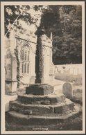 Medieval Cross, Crowcombe, Somerset, C.1920 - H H Hole RP Postcard - England