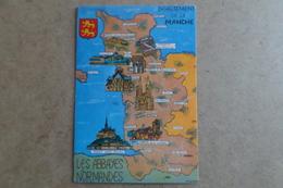 LES ABBAYES NORMANDES - Département De La Manche - Carte ( 50 Manche ) - Non Classés