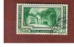 VATICANO - VATICAN -  UNIF.  57 -   1938  ARCHEOLOGIA CRISTIANA  -  USATI (USED°) - Vaticano