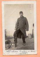 CARTE PHOTO DE 1914 - MILITARIA - WWI - GEORGES POILU DU 45 REGIMENT D'ARTILLERIE AVEC SON FUSIL - War 1914-18