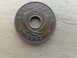 East  Africa  5  Cents  1936 H  Km 23 - Colonie Britannique
