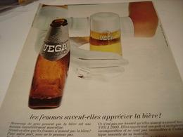 ANCIENNE PUBLICITE BIERE VEGA 2000 1969 - Alcohols