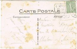 DAGUIN DE LOURDES SUR CPA - Storia Postale