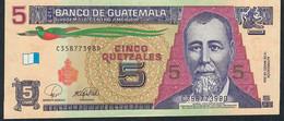 GUATEMALA P116 5  QUETZALES 12.3. 2008   UNC. - Guatemala