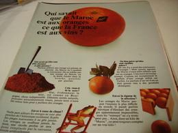 ANCIENNE PUBLICITE ORANGE DU MAROC 1969 - Posters