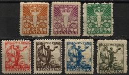 1919 - SHS Yugoslavia CROATIA - Angel Of Freedom / Sailor And Flag + Falcon -  Full Set - MH - 1919-1929 Royaume Des Serbes, Croates & Slovènes