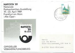 LETTRE / FRANKFURT AM MAIN 1990 / NAPOSTA'89 - Briefe U. Dokumente