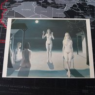 Paul Delvaux - Nuit Sur La Mer 1976 - Peintures & Tableaux