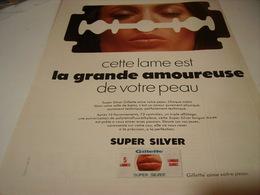 ANCIENNE PUBLICITE LAME GILLETTE 1969 - Parfums & Beauté