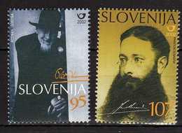 Slovenia - 2002 Famous Personalities.Joze Plecnic - Architect,Janko Kersnik - Writer And Politician MNH** - Slovénie
