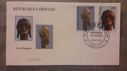 GABON 1999 FDC ENVELOPPE PREMIER JOUR MASQUES MASKS - Gabon
