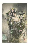 Portrait De Femme - Fleurs Des Champs - 4853 - Vrouwen