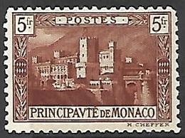Monaco  1922   Sc#47  5fr Palace  MH   2016 Scott Value $32.50 - Monaco