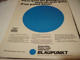 ANCIENNE   PUBLICITE AUTORADIO RADIO BLAUPUNKT BOSCH 1969 - Tabac (objets Liés)