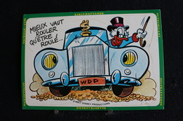 T-D, N°5 / Walt Disney Productions - Mieux Vaut Rouler Qu'être Roulé...  - Carte Autocollant - Disney