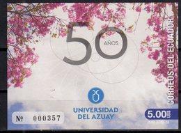ECUADOR, 2018, MNH, EDUCATION, UNIVERSITY OF AZUAY, TREES, S/SHEET - Stamps