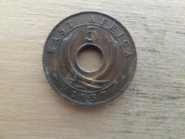 East  Africa  5  Cents  1937 Kn  Km 25.1 - Colonie Britannique