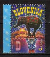 Slovenia - 2002 EUROPA Stamps - The Circus. MNH** - Elephant - Slovénie