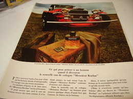 ANCIENNE PUBLICITE PARFUM MONSIEUR   DE ROCHAS  1969 - Parfums & Beauté
