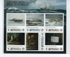 M-P20L5 Block (mini-sheet) Historic Huts 2017 MNH Ross Dependency (neufs) Bloc Feuillet - Unused Stamps