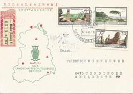 Deutschland: 'DDR' FDC-Einschreiben-Brief 1966 Berlin - Ürdingen: Nr. 1181-1183 #PK - FDC: Enveloppes