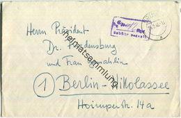 Brief Aus Gotha Vom 25.02.1946 Mit 'Gebühr Bezahlt' Stempel B14f In Violett '12' - Zone Soviétique
