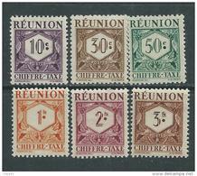 Réunion Taxe  N° 26 / 35  XX  La Série Des 10 Valeurs Sans Charnière, TB - Réunion (1852-1975)