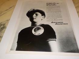 ANCIENNE PUBLICITE LIGNE AERIENNE AEROLINEAS ARGENTINAS 1969 - Publicités