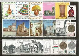 Année 1980.  19 Timbres Inclus Poste Aérienne , Neufs ** - Mexique