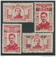 Indochine  N° 274 / 77 XX Héros De L'aviation, Les 4 Valeurs Sans Charnière  Dentelure Habituelle Sinon TB - Neufs