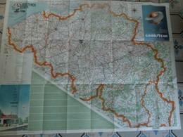 Wegenkaart  Belgie  1954 - Cartes Routières
