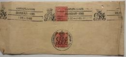 INDIA - 1911 Piece With Coronation Durbar 1911 Postmarks - India (...-1947)