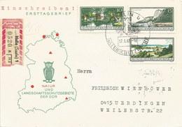 Deutschland: 'DDR' FDC-Einschreiben-Brief 1966 Berlin - Ürdingen: Nr. 1179,1180+1184 #PK - FDC: Enveloppes