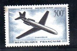 France / Poste Aérienne / N 36 / 500 Francs Bleu / NEUF** , Défaut De Gomme - Airmail