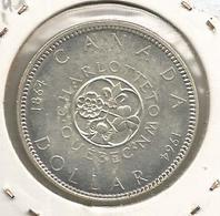 Monnaie, CANADA , Dollar ,1964,  Elisabeth II,Charlottetown, Quebec,argent ,2 Scans ,frais Fr 1.95 E - Canada