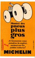 """Michelin. Publicité Format Carte Postale. Bibendum. """"Montez Des Pneus Plus Gros"""". Cachet Garage Cacharo Tarragone. - Publicités"""